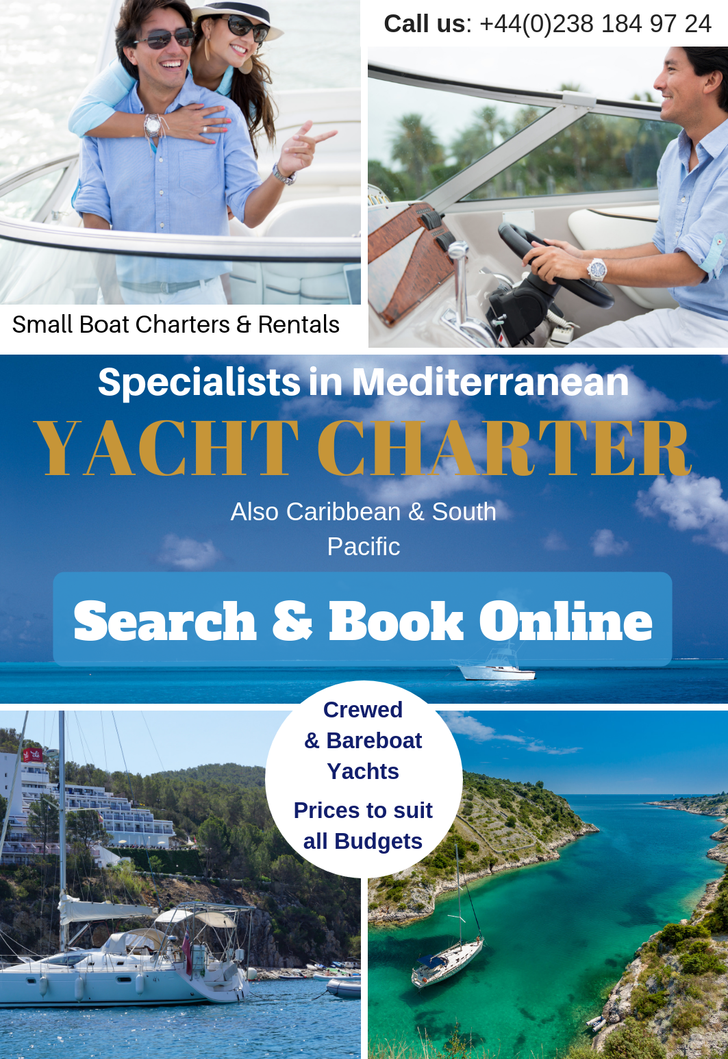 Find cheap yacht charters in Spain