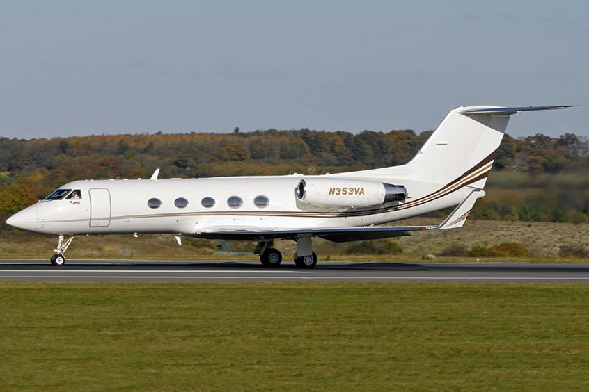 Gulfstream Private Jet on Runway