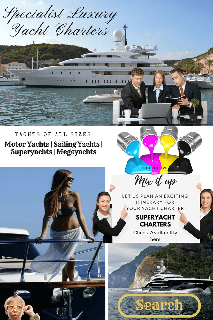 Super yacht Charters in the Mediterranean in this megayacht.