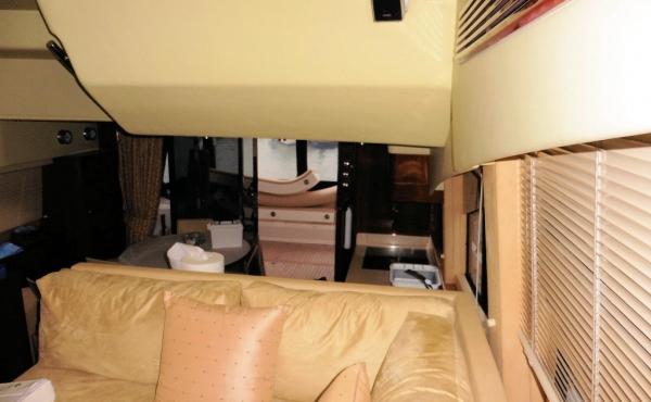 Stylish cream leather sofa