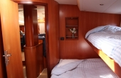 Bunk bed inside the cabin of the Sailing Yachts