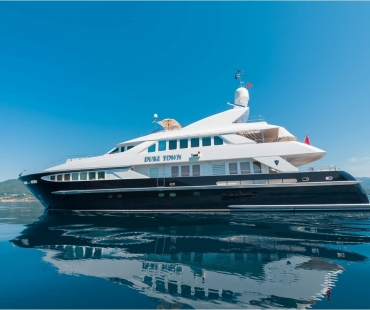 Side views of the motor yacht Duke Town