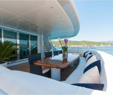Luxury white and navy interior