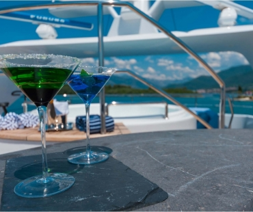 Cocktails on board Duke Town