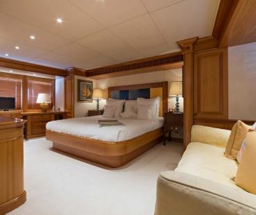 breathtaking master cabin on Duke Town
