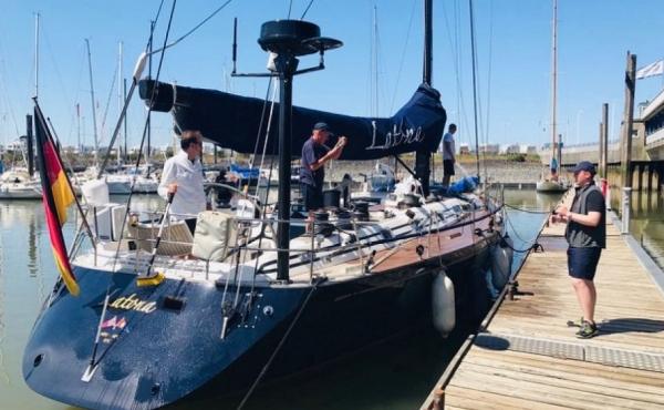 Nautor Swam 56 docked in Germany.
