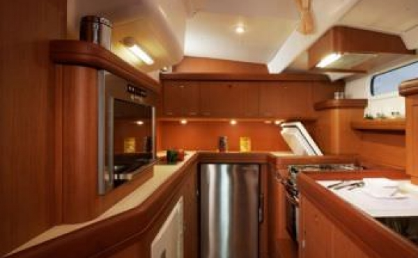 Galley with modern appliances