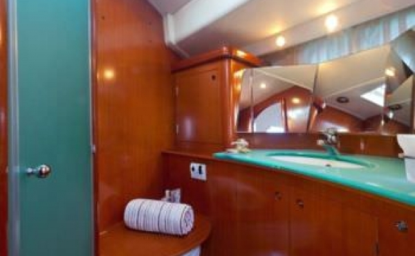 View of the bathroom on board