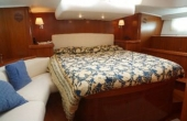Master cabin with leather seating