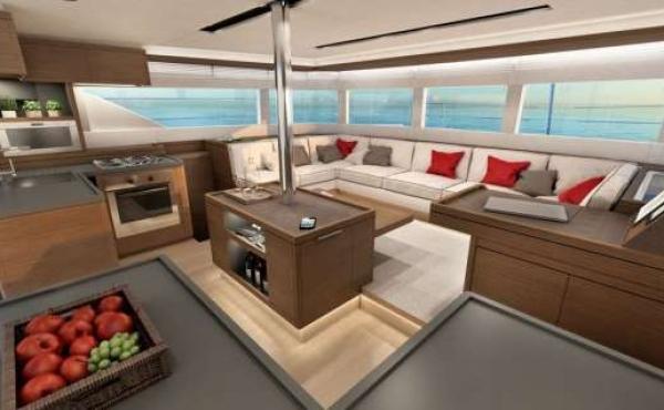 Open Plan saloon area on board the Lagoon 50 - Adriatic Leopard