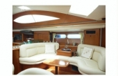 White leather seating on board osarracino