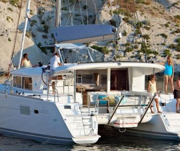 Catamaran yacht charter in Barcelona ready for booking