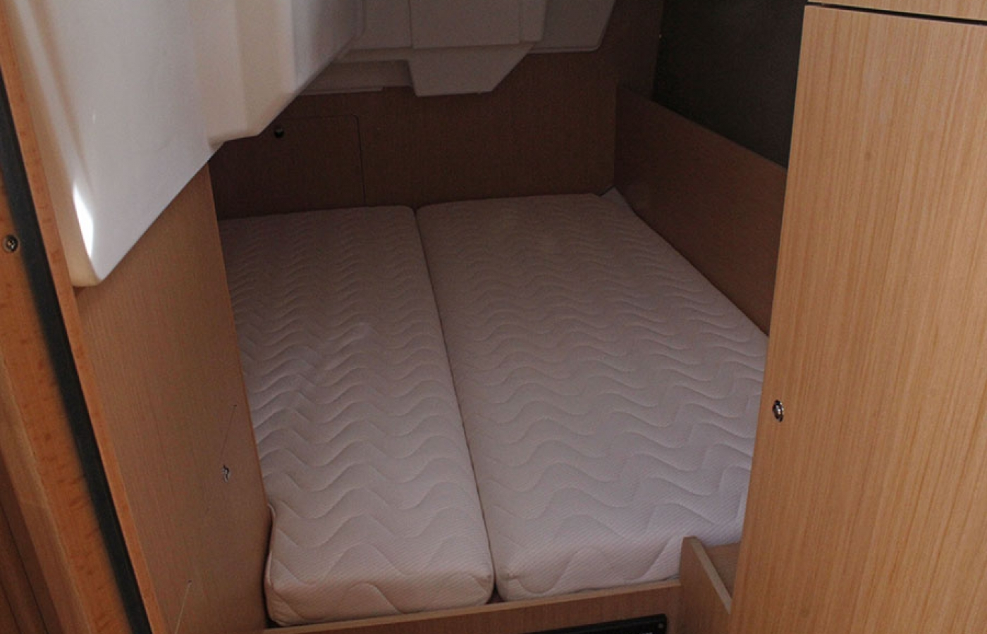 Cabin area with small double bed