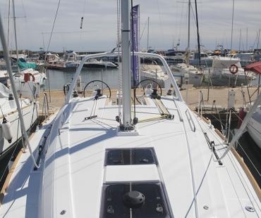 Llampuga docked in Barcelona Spain