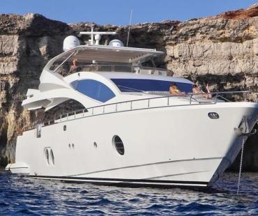 Yacht Sicilia - At Anchor in Ibiza