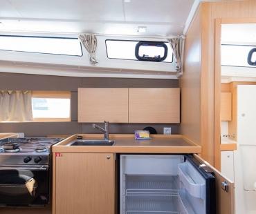 Kitchen area on the Beneteau Oceanis 38.1. - Tifon with modern appliances