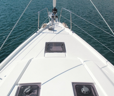 The bow of the stunning Beneteau Oceanis 41.1.