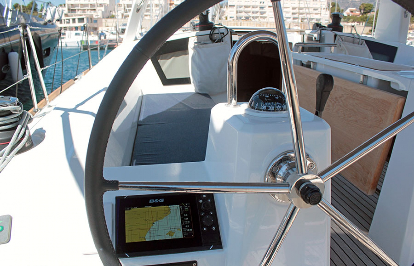 Navigation system on a Beneteau Oceanis 38.1.