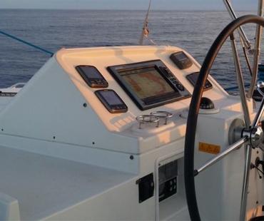 Navigation equipment on board the Lagoon 450