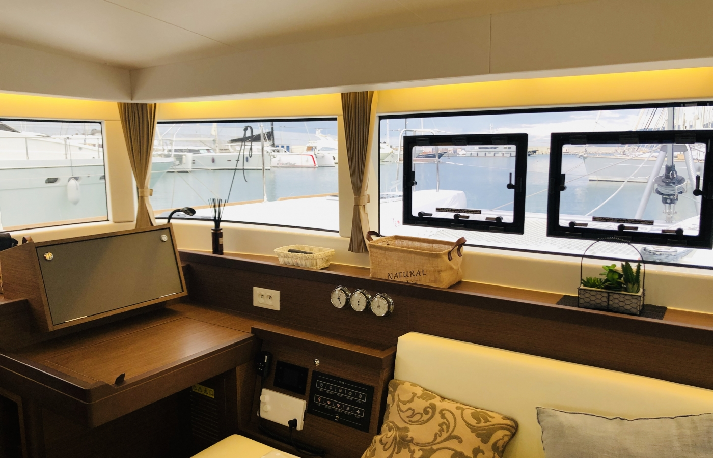 Large windows for the perfect sea views from the galley