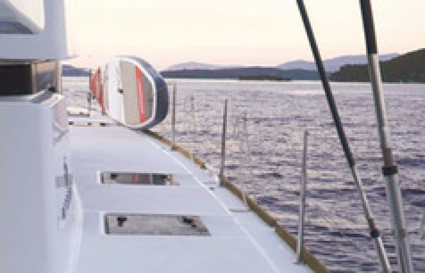 Solar panels on board the Lagoon 52