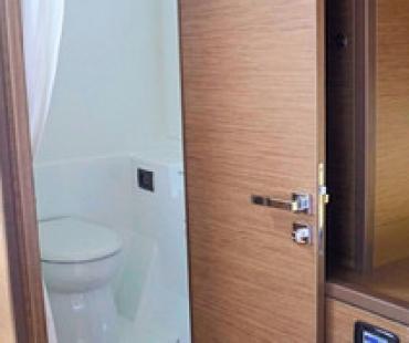 En-suite bathroom on board