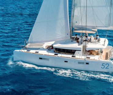 Lagoon 52F Samona available to charter from three different base in Italy