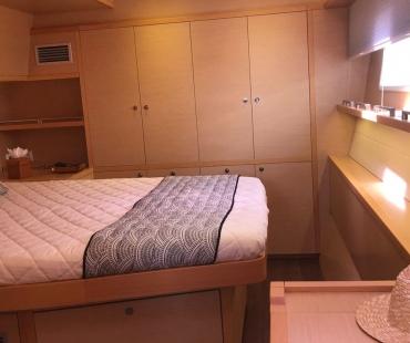 Double bedroom cabin with plenty of storage