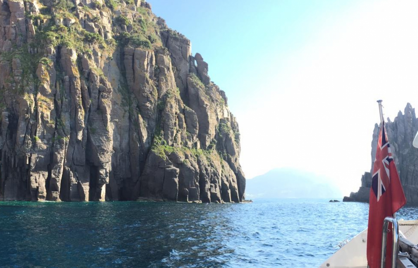 Views from the sailing catamaran of the Amalfi Coast
