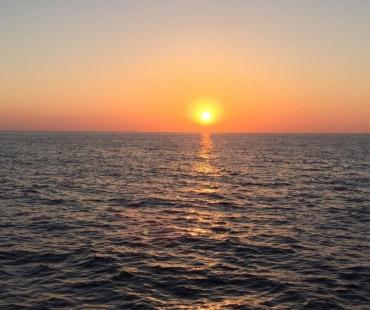 Sunset views of the Amalfi Coast