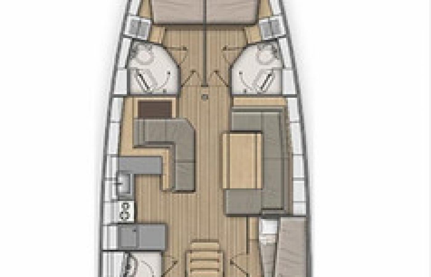 Beneteau Oceanis 51.1 - Lefkas layout