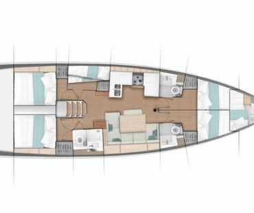 Jeanneau Sun Odyssey layout