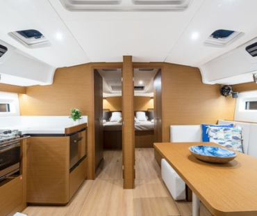 The galley of the boat