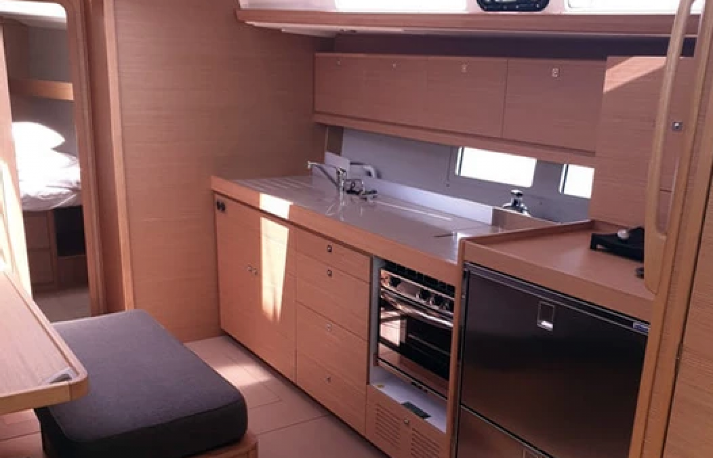 Galley on board Dufour Grand Large 460