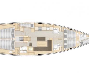Hanse 508 layout