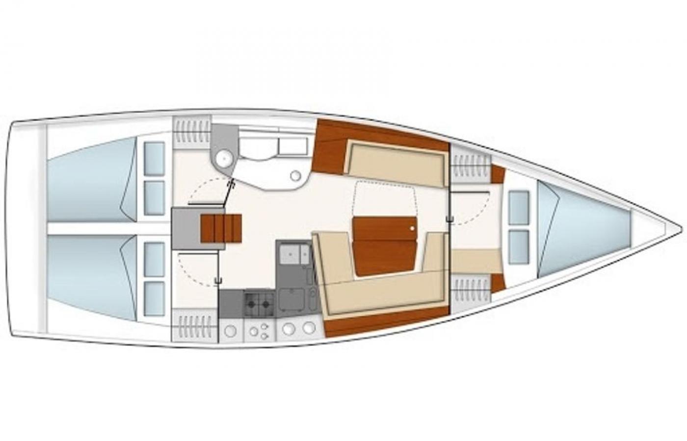 Hanse 385 - Sernaka layout