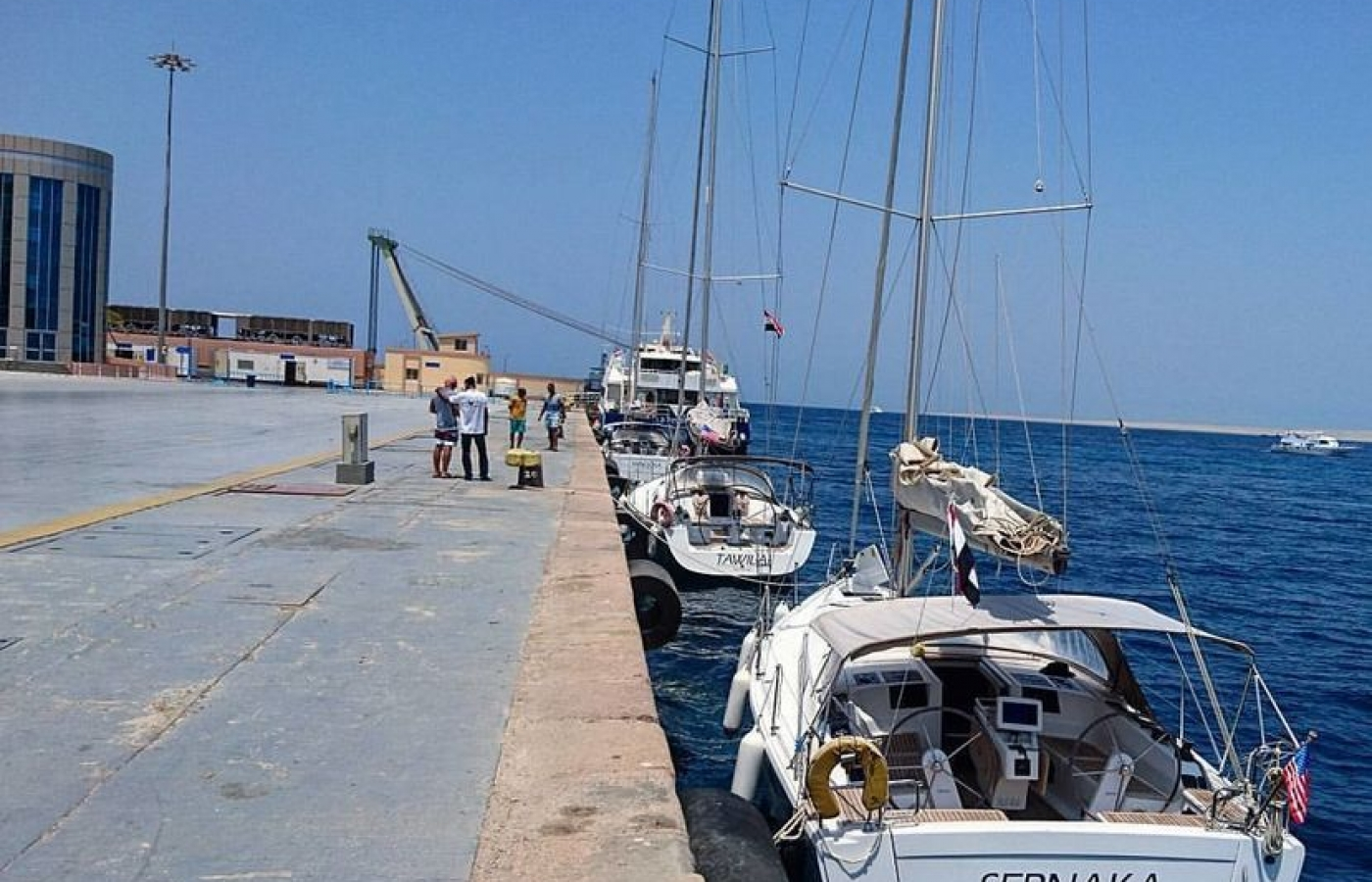 Hanse 385 - Sernaka docked in Egypt