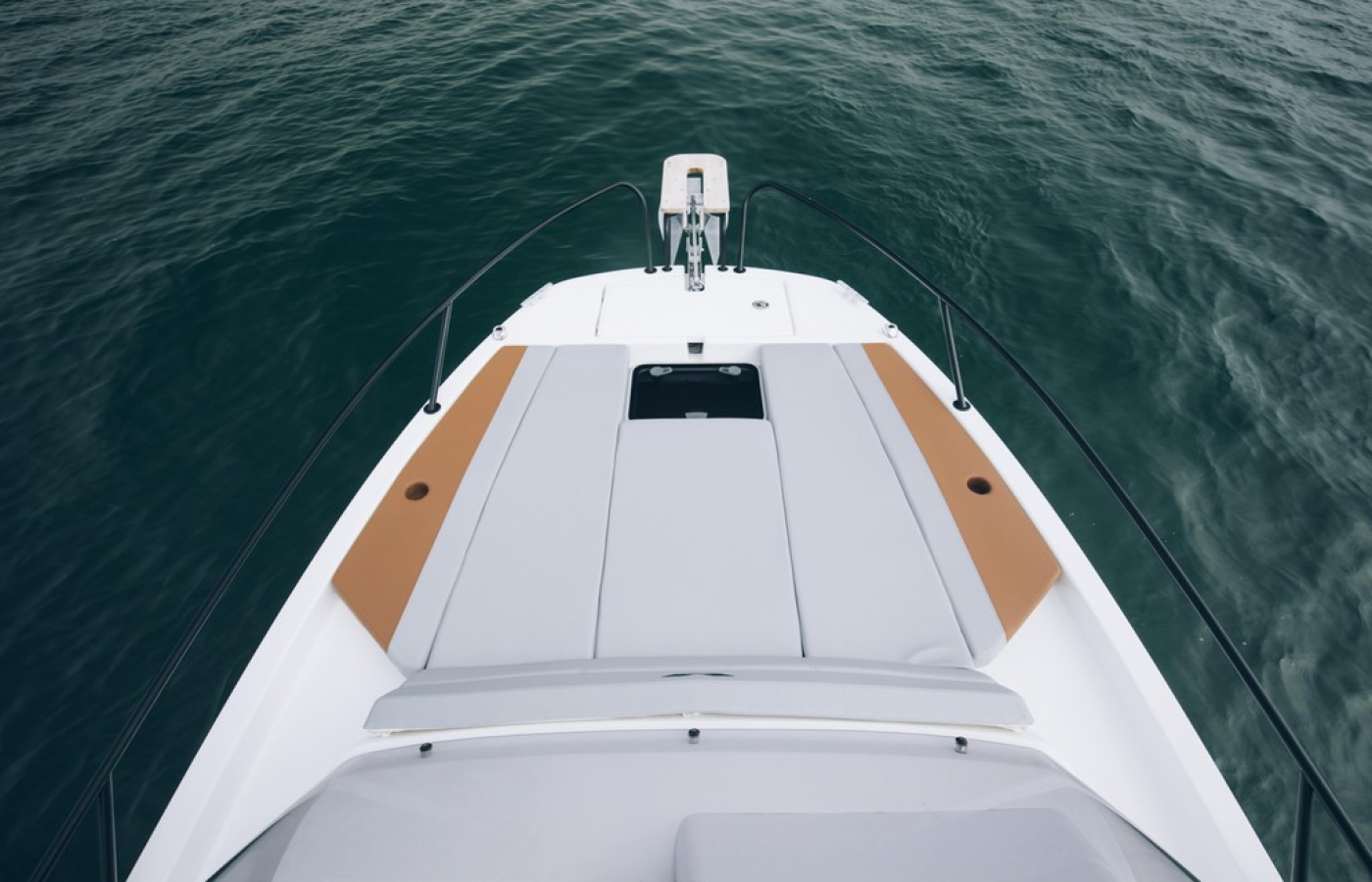 View of the sun deck of the boat