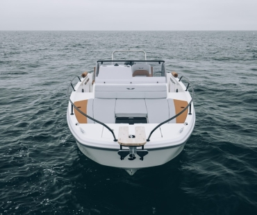 Front on view of the boat