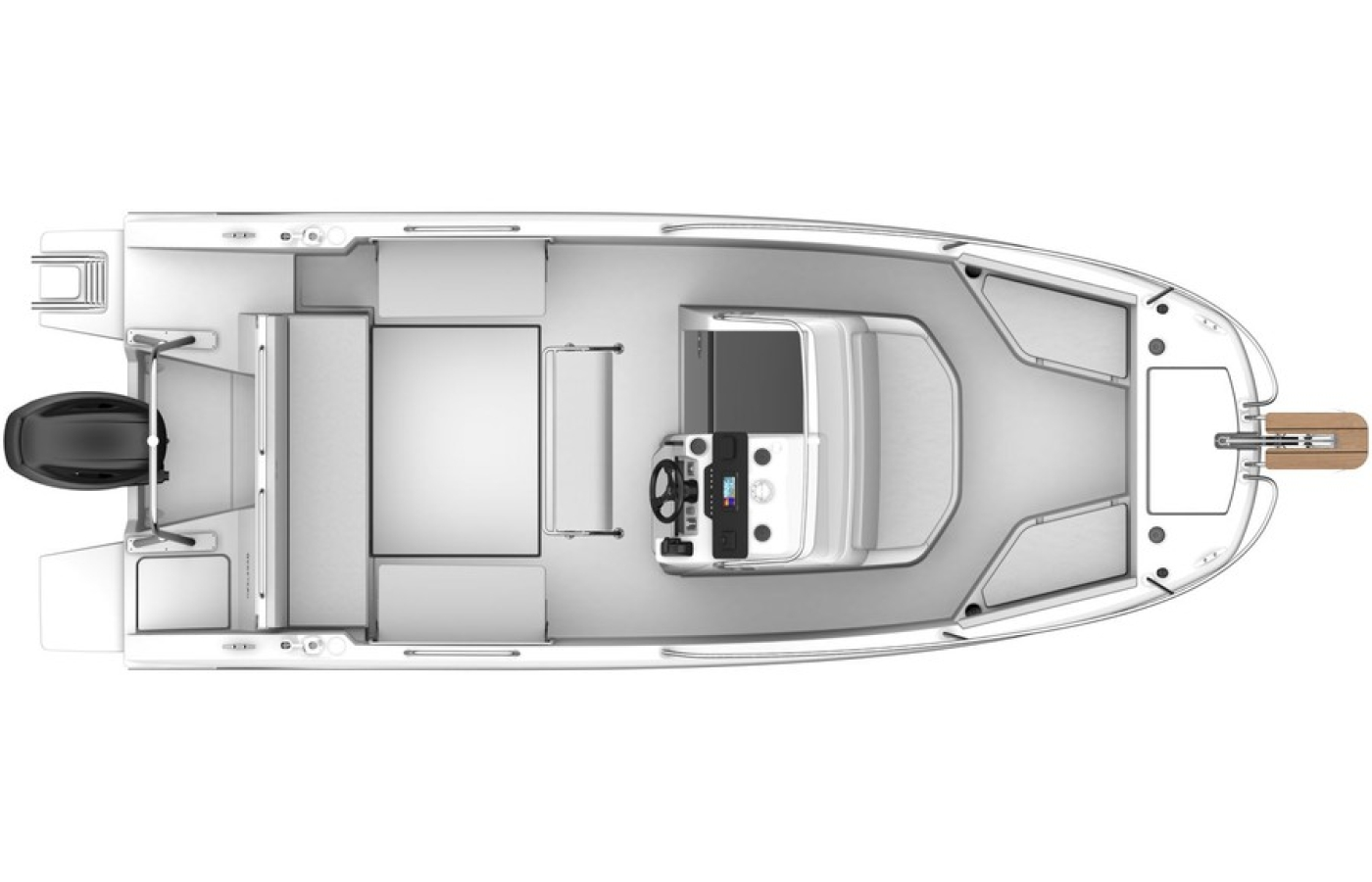 A view of the boat from above