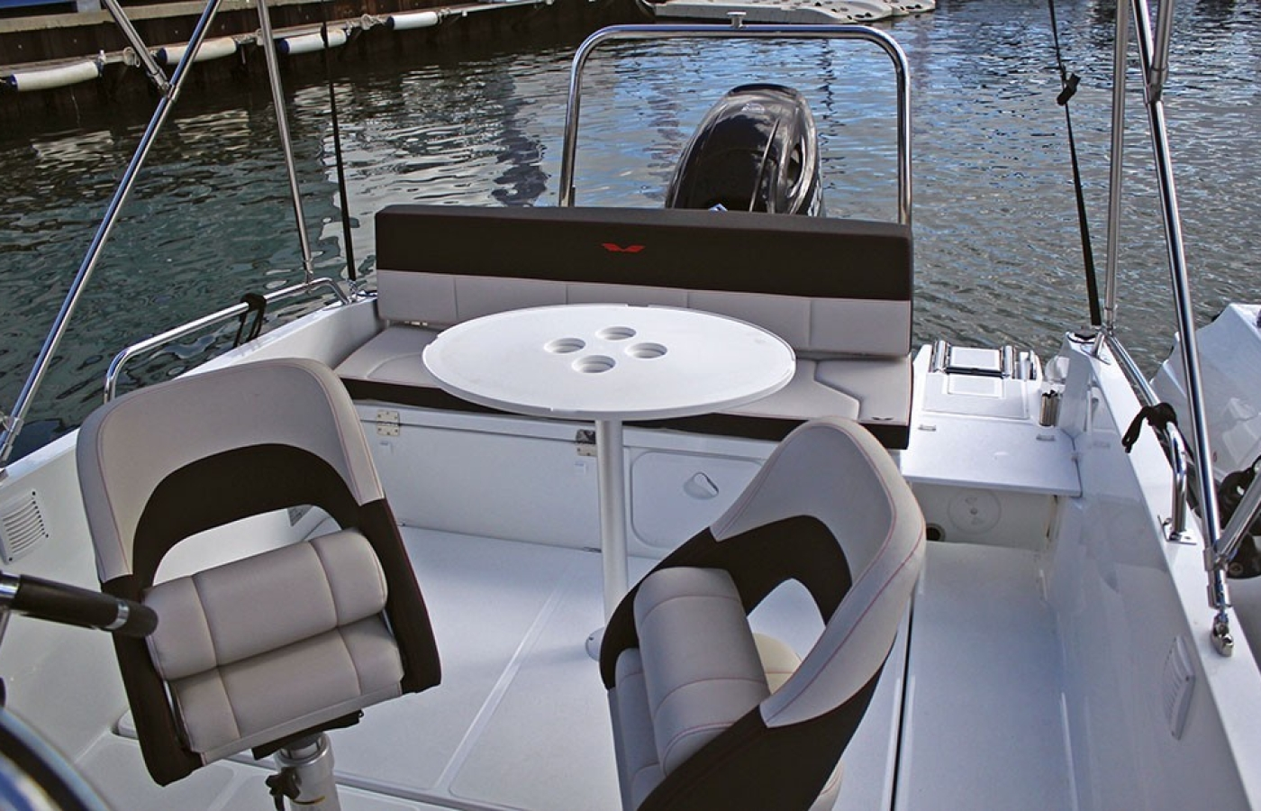 Seating area of the boat
