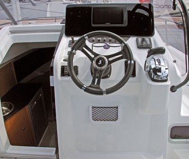 Cockpit of the boat