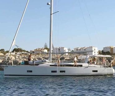 Guests on board Beneteau 57 - Sirius