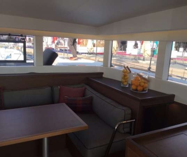 Dinning area in side the boat