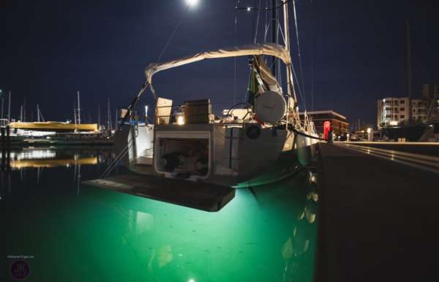 Back of JK Sail in the dark