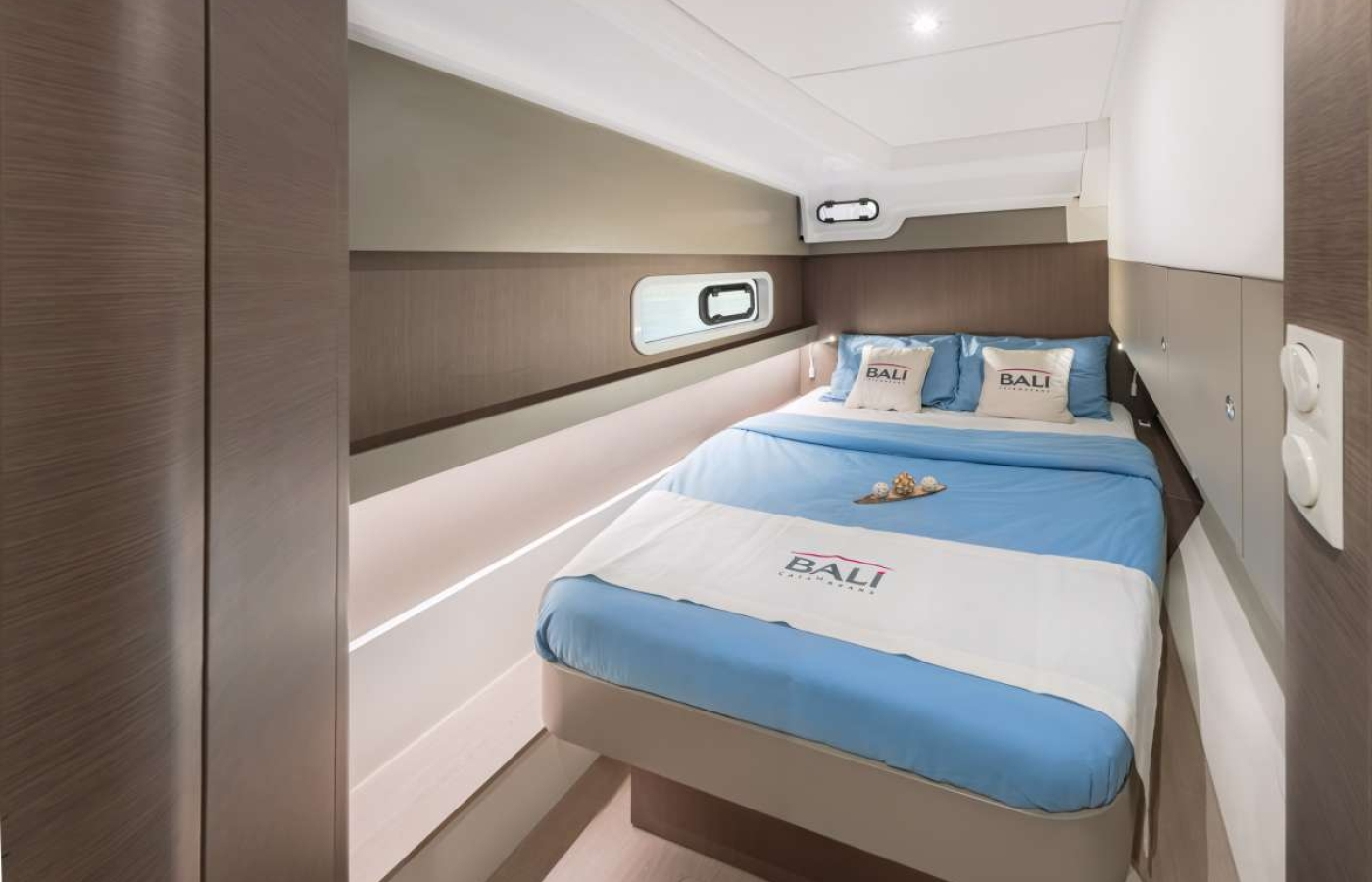 Master cabin with double bed