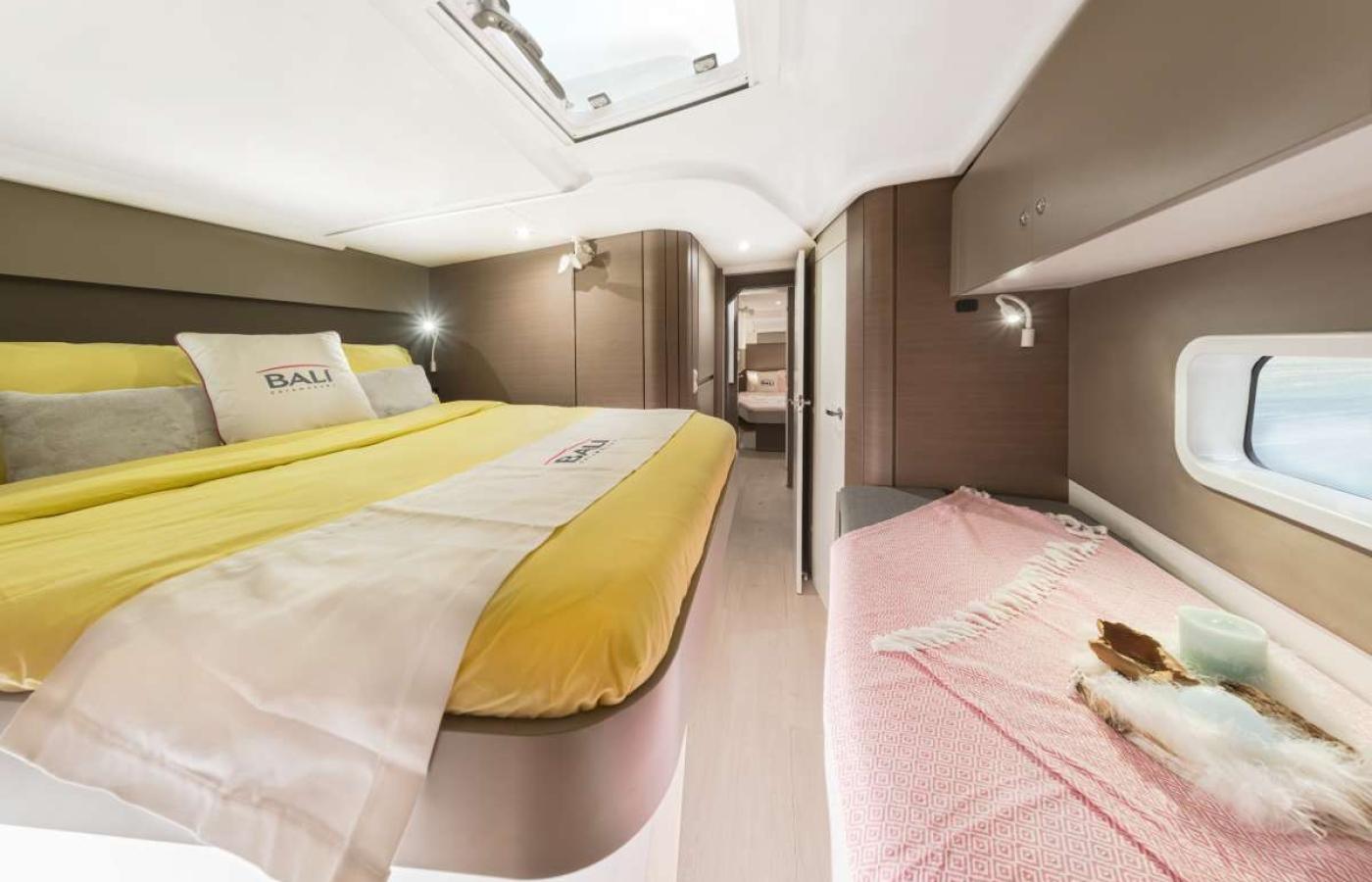 The triple bed cabin on board