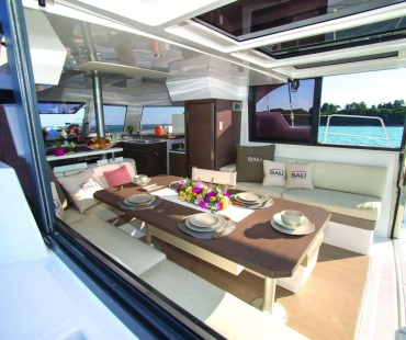 Dining area on the aft deck